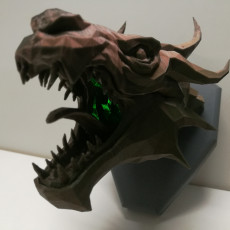 Picture of print of Skyrim Swamp Dragon wall Trophy