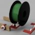 3D Printing Nerd Challenge - Spool Wall Hanger image
