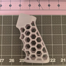 Picture of print of AR-15 Skeleton HexCut Grip Combo