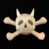Jolly Roger with Horns, 2 Color Pendant image