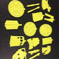 Picture of print of Collection of Dr Who pendants/earrings