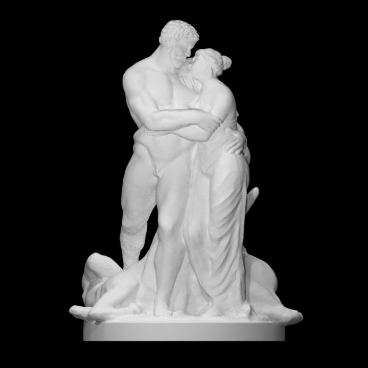 3D Printable Hercules and Deianira by Scan The World