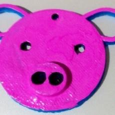 Beautiful Pig Keychain or Pendant