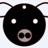 Beautiful Pig Keychain or Pendant image