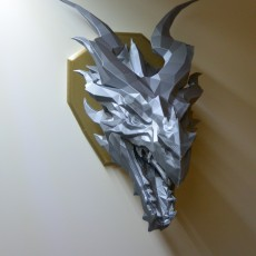 Skyrim Alduin Dragon wall Trophy