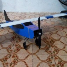 Aeromodelo Cessna 187 em 3D.