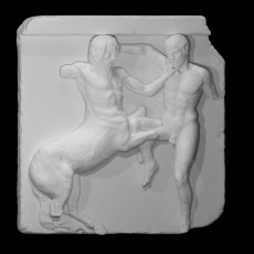 Centaur and Lapith locked in combat