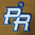 Puerto Rico Baseball Logo Keychain/Ornament image