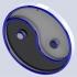 Ying Yang Keychain or Pendant image