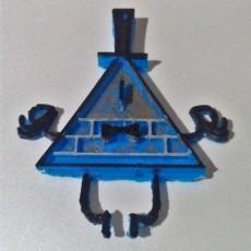 Bill Cipher Gravity Falls Keychain or Pendant