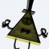 Bill Cipher Gravity Falls Keychain or Pendant image