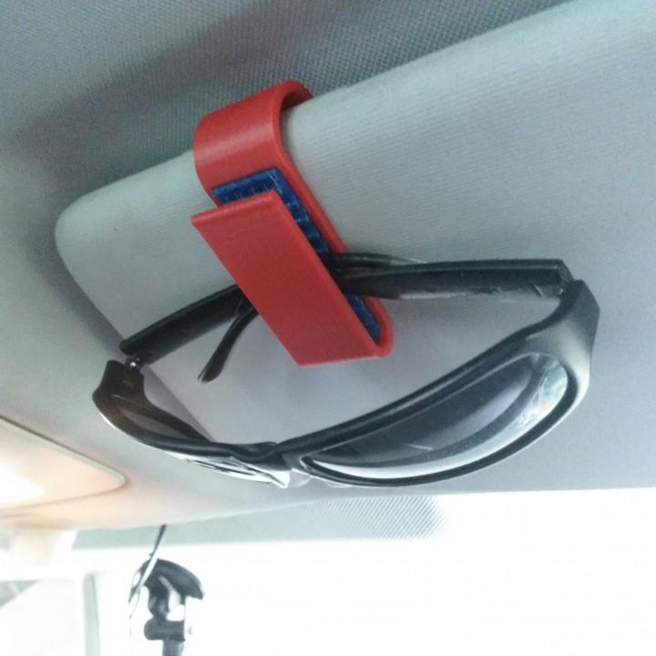 Glasses car clip