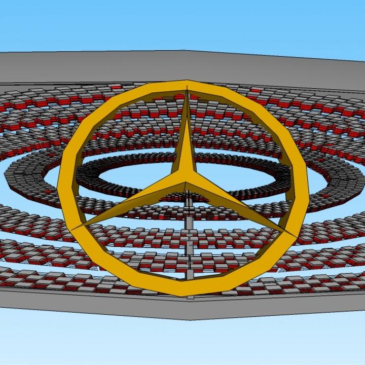 3D Printable Mercedes grill 2020 by Luis Radilla by Luis Radilla