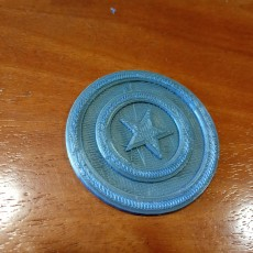 Picture of print of Captain America logo