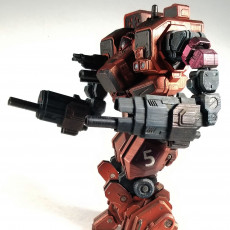 Picture of print of MWO Hellbringer