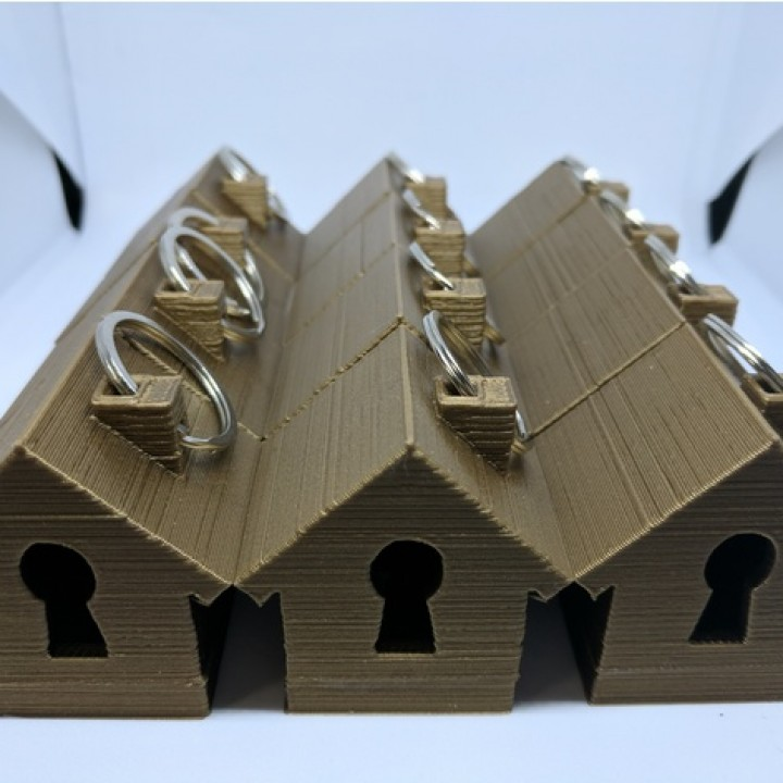 image relating to Up House Printable identified as 3D Printable Light-weight Up Household Keyring via Stephanie Piper