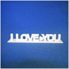 Picture of print of I love You
