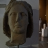 Head of wreathed youth image