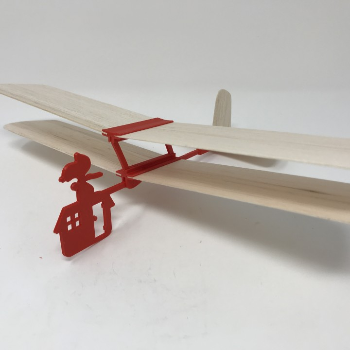 Red Baron II: Hand Launched Biplane Glider