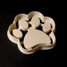 Dog Footprint Cookie Cutter