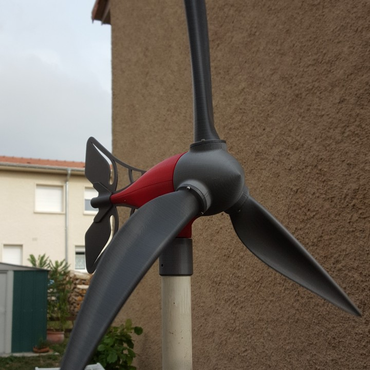 It is a photo of 3d Printable Wind Turbine throughout electric