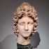 A Roman marble head of a god image