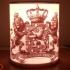 Wapen Van Nederland (Coat Of Arms Of The Netherlands) Lithophane Lamp image
