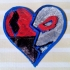 Harley and Joker heart pendant or Keychain one piece image