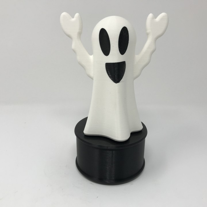 Animated & Illuminated Happy Ghost