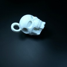 Picture of print of skull key chain