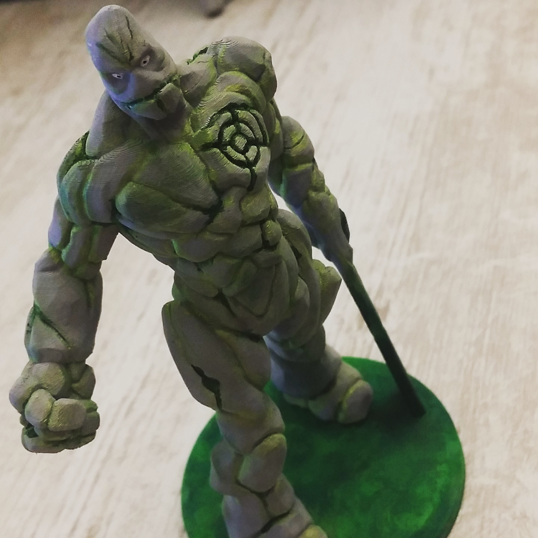 3D Printable Stone Golem With Blade Arm (Eastman Originals