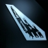 Stencil Mass Effect Normandy print image