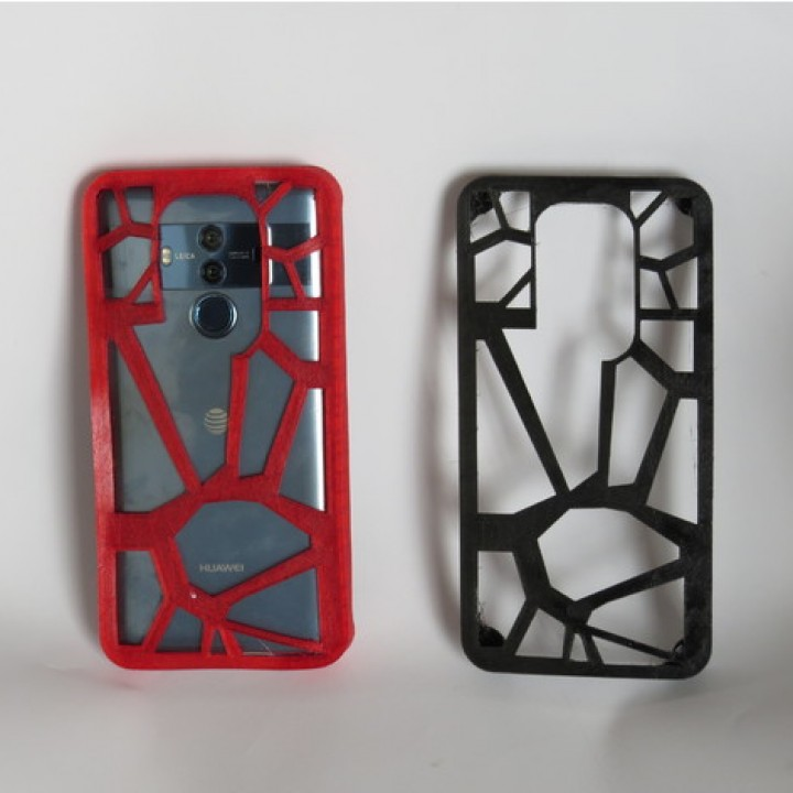 picture relating to Printable Phone Case titled 3D Printable Huawei Pal 10 Specialist Telephone Scenario - Voronoi Style