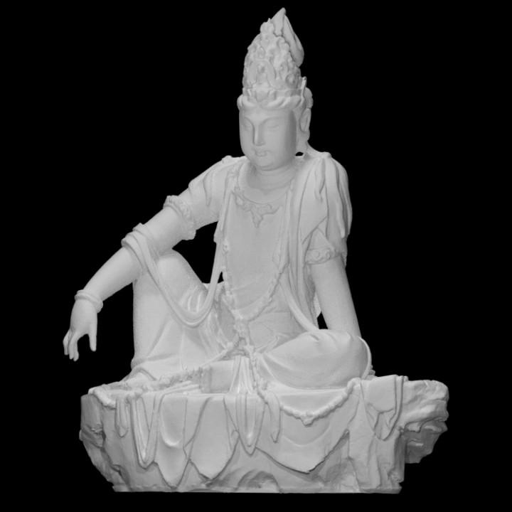 Avalokiteshvara Bodhisattva in the Water-Moon Form (Shuiyue Guanyin)