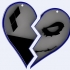 Harley and Joker heart for keychain or pendant two parts v2 image