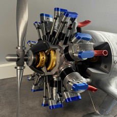 Picture of print of Radial Engine, 7-Cylinders, Cutaway