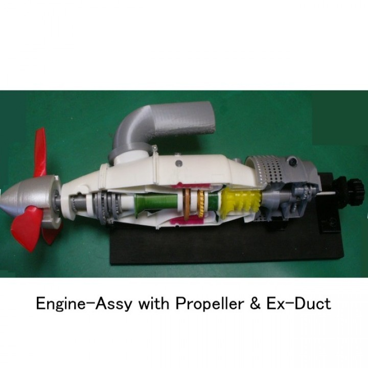 Turboprop Engine, for Business Aircraft, Free Turbine Type, Cutaway