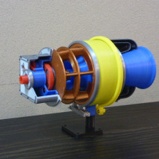 Picture of print of Turboshaft Engine, with Radial Compressor and Turbine