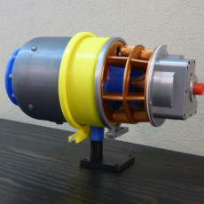 Picture of print of Turboshaft Engine, with Radial Compressor and Turbine 这个打印已上传 Hector Burak
