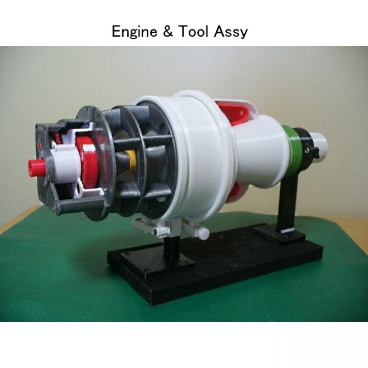 Turboshaft Engine, with Radial Compressor and Turbine