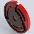Itachi's mangekyo sharingan for Keychain or Pendant image