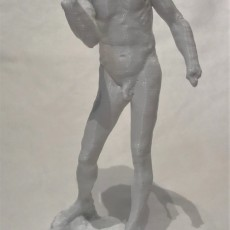 Picture of print of Nude Pierre de Wissant (Burgher of Calais study)