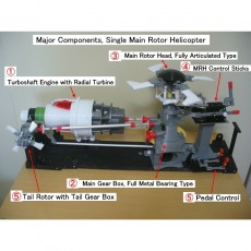 Helicopter Power Train for Single Main Rotor