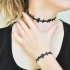 Stitched Neck Choker and Stitched Wrist Bracelet image