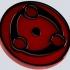 Madara's mangekyo sharingan eye for Keychain or Pendant image