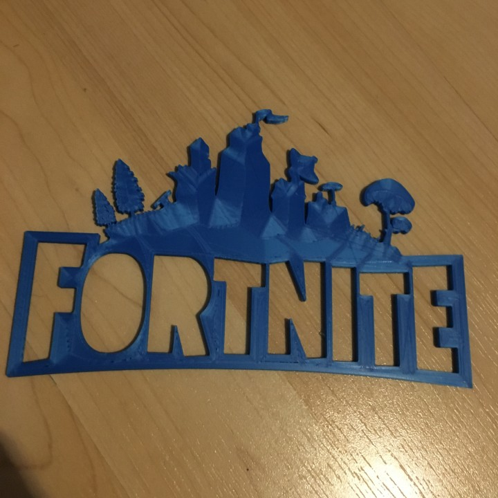 photo about Fortnite Logo Printable identified as 3D Printable Fortnite brand as a result of Turner White