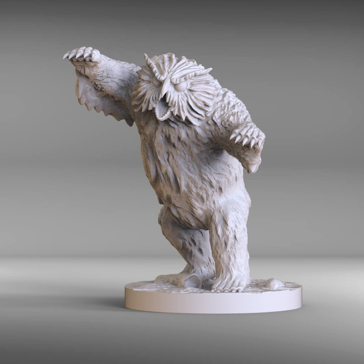 picture regarding Free 3d Printable Miniatures named Owlbear - DD miniature