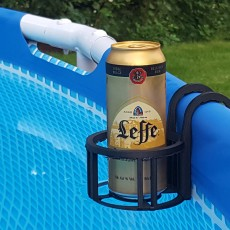 Glasse support for pool