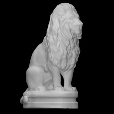 Seated lion No1