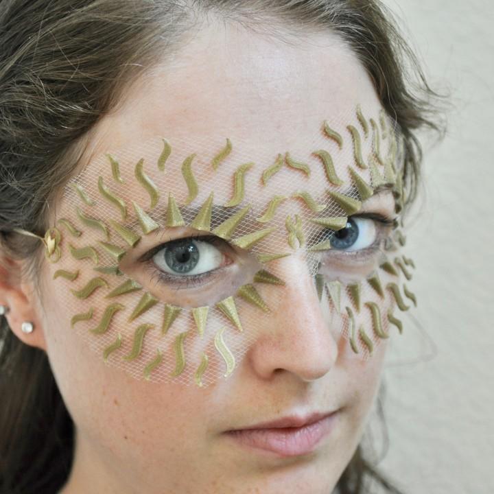 Sun Rays Flexible Masquerade Mask